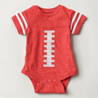 MOTTA MIG•, Röd fotbollbaby+Baksida Jersey för vit Tee Shirt