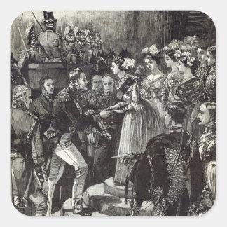 Mottagande av Louis Philippe på det Windsor Fyrkantigt Klistermärke
