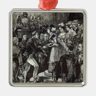 Mottagande av Louis Philippe på det Windsor Julgransprydnad Metall