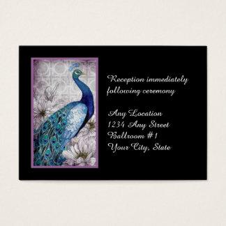 Mottagande för bröllop för vattenfärg för visitkort
