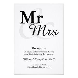 Mottagande för Mr&Mrs enkelt elegantt 8,9 X 12,7 Cm Inbjudningskort