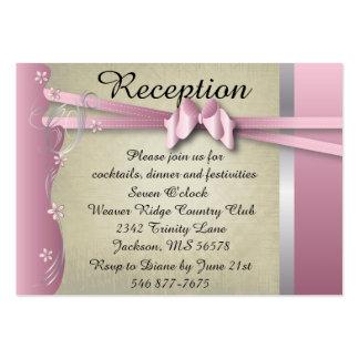 Mottagandekort - rosa flott färger för vintage visitkort mall