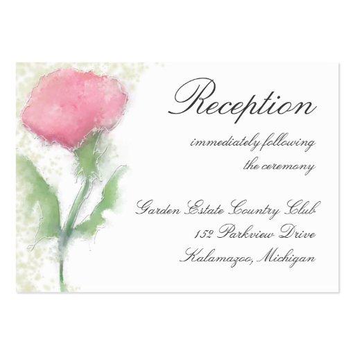 Mottagandekort - rosablomma visitkort