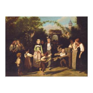 Mottagandet av bröllop kopplar ihop vid Theodor Sc Canvastryck