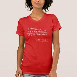 Mottagareare t-skjorta för Hashtag transplantat Tee