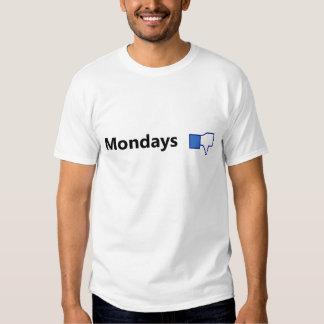 Motvilja Måndagar - skjorta (svart text) T-shirt