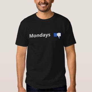 Motvilja Måndagar - skjorta (vittext) Tshirts