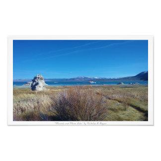 """""""Mounds och Mono sjö,"""" natur Fototryck"""