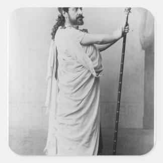 Mounet-Befläcka som Oedipus i 'Oedipus Rex Fyrkantigt Klistermärke