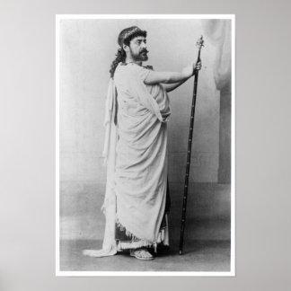Mounet-Befläcka som Oedipus i 'Oedipus Rex Poster
