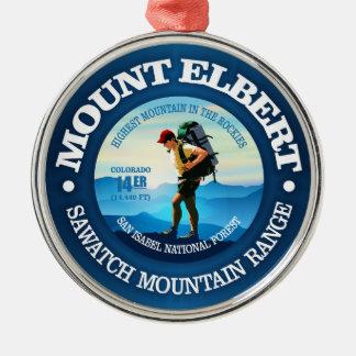 Mount Elbert (fotvandrare C) Julgransprydnad Metall