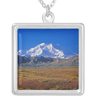 Mount McKinley Denali nationalpark, Alaska. Silverpläterat Halsband