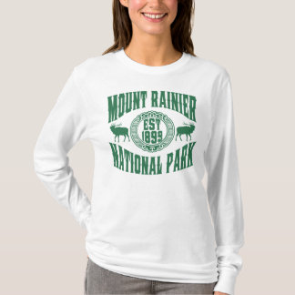 Mount Rainier gammal stilgrönt Tröjor