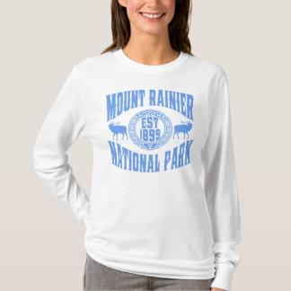 Mount Rainier gammala stilblått T Shirt