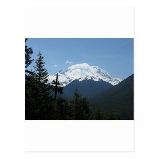 Mount Rainier längs Chinook passerar Vykort