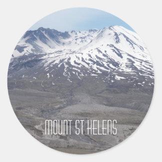Mount Saint Helens foto Runt Klistermärke