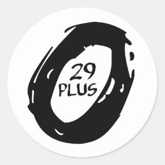 mountsincykeln för plus 29 rullar runt klistermärke