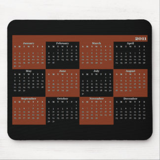 Mousepad 2011 kalender Mousepad Mus Matta