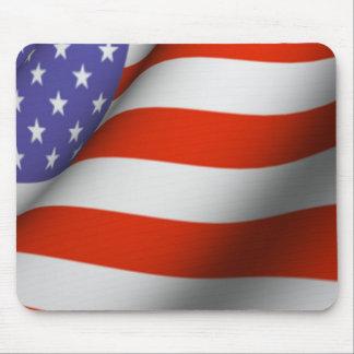Mousepad - amerikanska flaggan musmatta