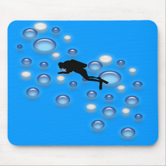 Mousepad - dykare med bubblar musmatta
