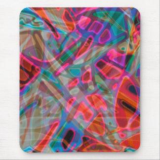 Mousepad färgrik målat glass musmatta