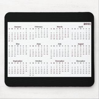 Mousepad för 2011 kalender vit