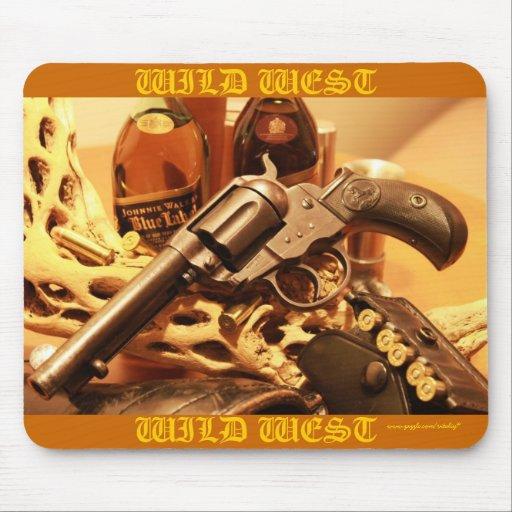 Mousepad för coola för revolver för vilda westernC Mus Matta