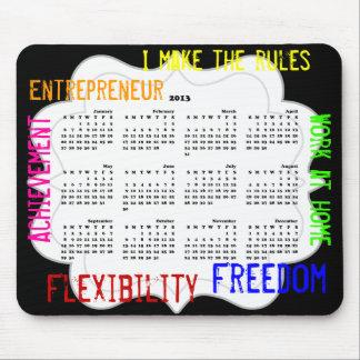 Mousepad för entreprenörarbete hemma kalender 2013 musmatta