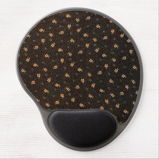 Mousepad för gel för mönster för mörkgultsvart gelé mus-mattor
