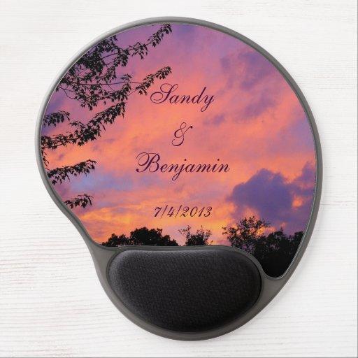 Mousepad för Gel för sommarsolnedgång romantisk *P Gelé Musmattor