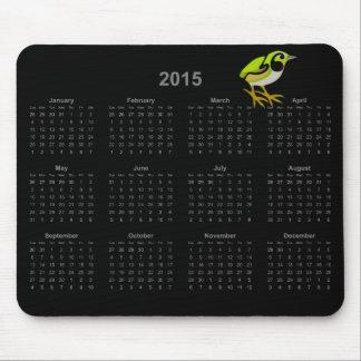 Mousepad för kalender för fågel 2015 för musmattor