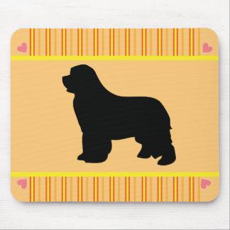 Mousepad för silhouette för Newfoundland hundsvart Musmatta