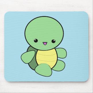 Mousepad för sköldpadda för Kawaii gröntbebis Musmatta
