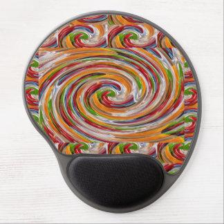 Mousepad gel-vadderar baksida för svarten för gel musmatta