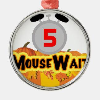 MouseWait 5th Födelsedag Slå LE Utrusta Julgransprydnad Metall