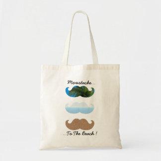 Moustache. Till stranden! Tygkasse