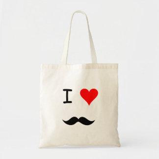 Moustachen hänger lös tygkasse