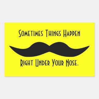 Moustaches händer rektangulärt klistermärke