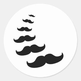 Moustaches Runt Klistermärke