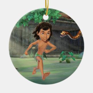 Mowgli 3 julgransprydnad keramik