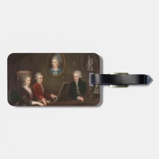 Mozart familjporträtt bagagebricka
