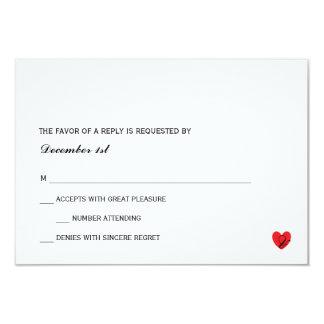 Mr för OSA |. mrs. 8,9 X 12,7 Cm Inbjudningskort