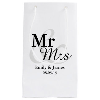 Mr&Mrs enkelt elegantt typografibröllop