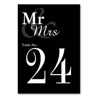 Mr&Mrs enkelt elegantt typografibröllop Bordsnummer