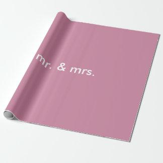 mr. & mrs. inpackning av papper presentpapper