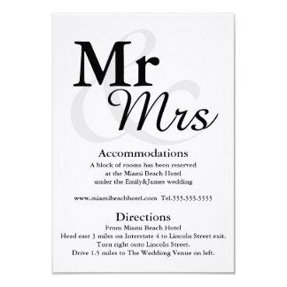 Mr&Mrs specificerar enkelt elegantt 8,9 X 12,7 Cm Inbjudningskort