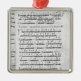 Ms 18 antagande fol.69 från 'Troparium Silverfärgad Fyrkantigt Julgransprydnad