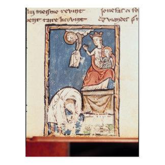Ms 3516 f.127 jonglören av Notre Dame Vykort