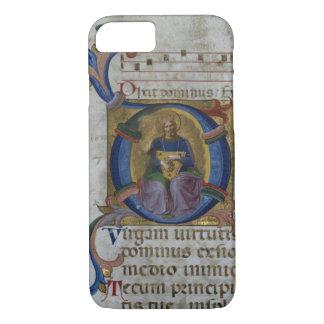 """Ms 531 f.169v Historiated initialt """"D"""" som visar"""