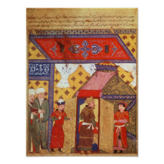 Ms. Supp. Pers.Pavilion-tält som resas upp av Ghaz Poster
